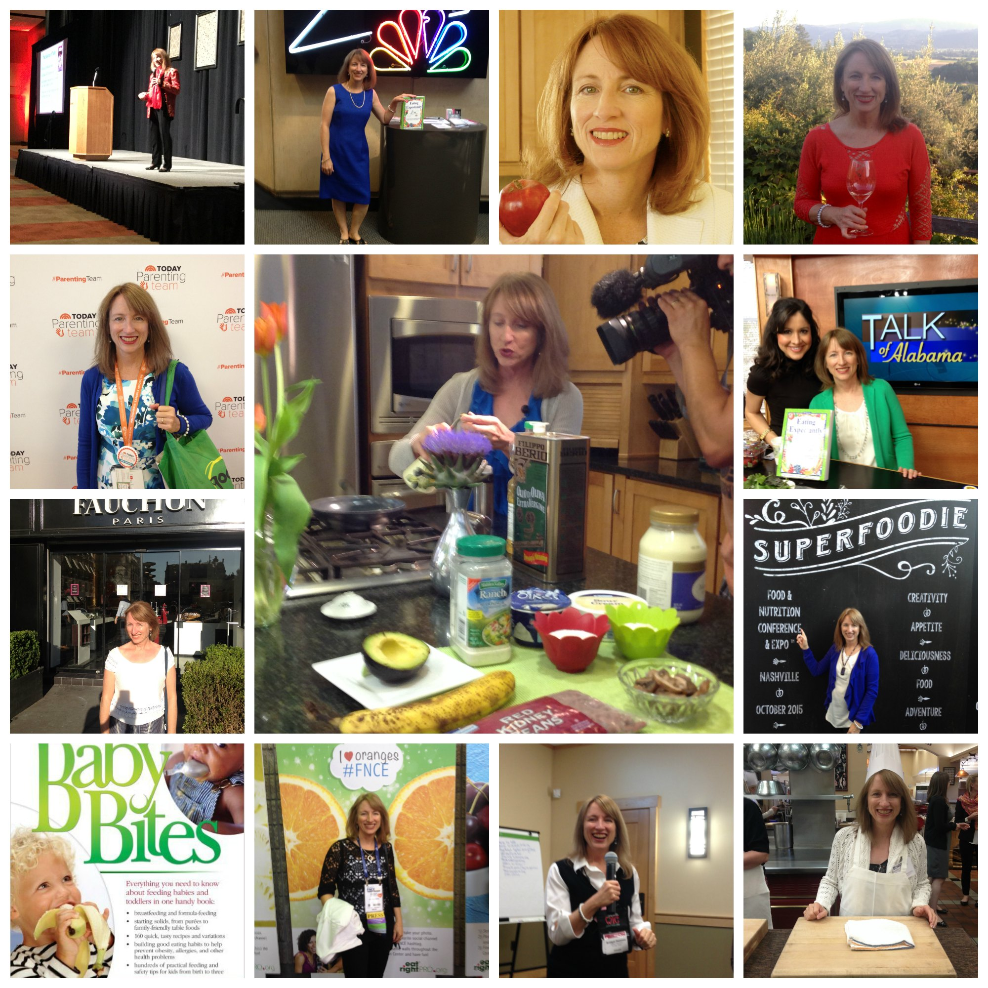 Bridget in some of her roles as Registered Dietitian!