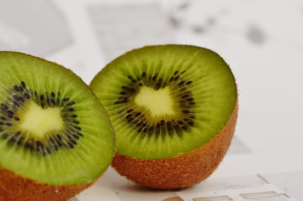 Kiwi halves are perfect for tart cravings.