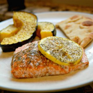 Salmon with Lemon & Dill by Jodi Danen at TheAverageRD.com