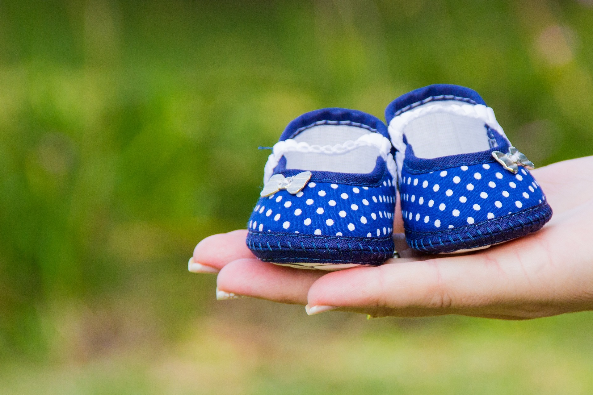 Blue baby shoes. Tips for morning sickness from eatrightmama.com and Bridget Swinney.