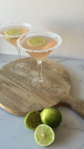 The Pink Lady mocktail, one of several recommended for moms-to-be with morning sickness.