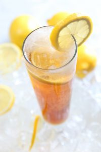 Iced tea has much less caffeine than coffee and is ideal in the summer.