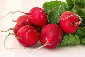 Whole radishes
