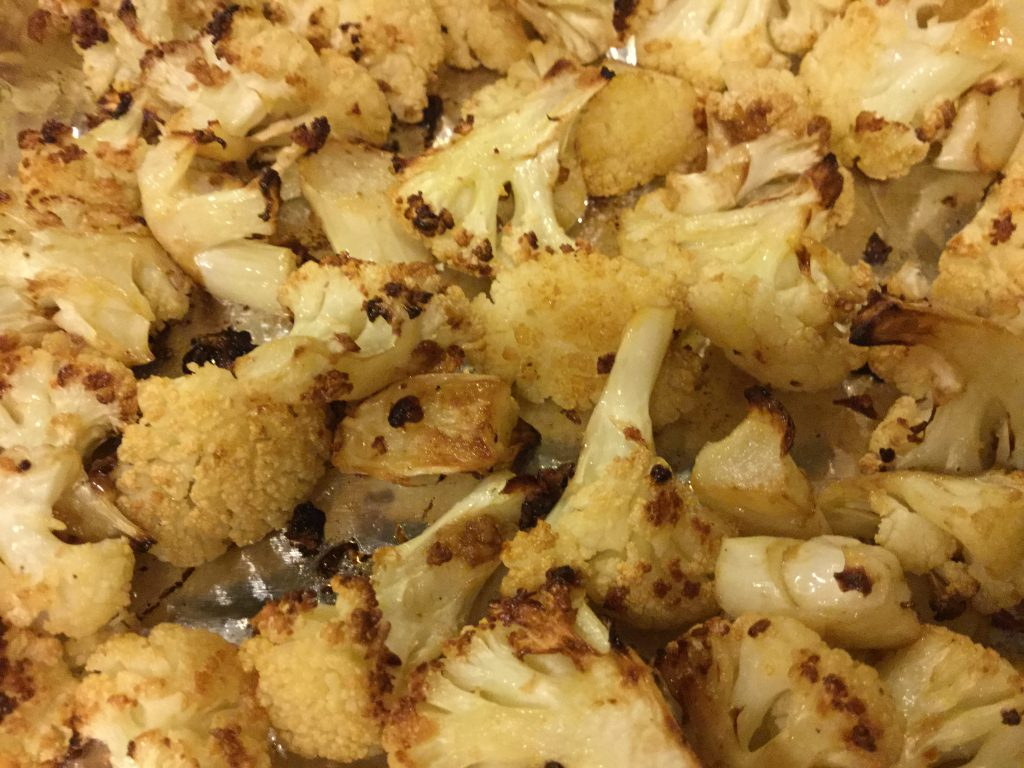 Roasted cauliflower is a great way to eat your veggies. More ideas at www.eatrightmama.com