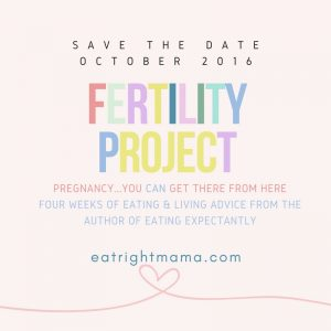 Check out www.eatrightmama.com for the #fertilityproject--information you need to help you #getpregnant.