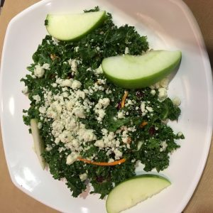 Kale, apple and feta salad from Silver Diner BWI http://bit.ly/2g1no11