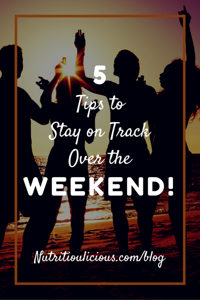On the Fifth Day of Christmas: 5 Ways to Stay on Track over the Weekend: part of 12 Days of Christmas post on eatrightmama.com bit.ly/2hAsoG3