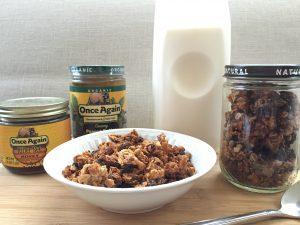 Peanut butter granola and more PB recipes at www.eatrightmama.com