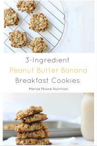 Breakfast cookies courtesy of Marisa Moore RD. More PB recipes at www.eatrightmama.com