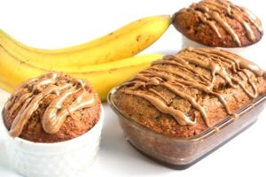Almond Cashew butter banana bread from TheNutritionistReviews. More Healthy Nut recipes at www.eatrightmama.com