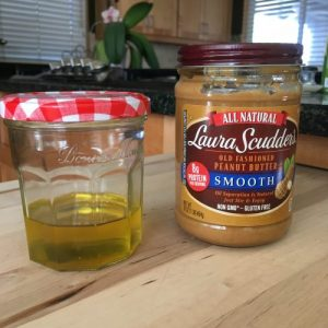 Peanut oil from natural peanut butter makes a great hand moisturizer!