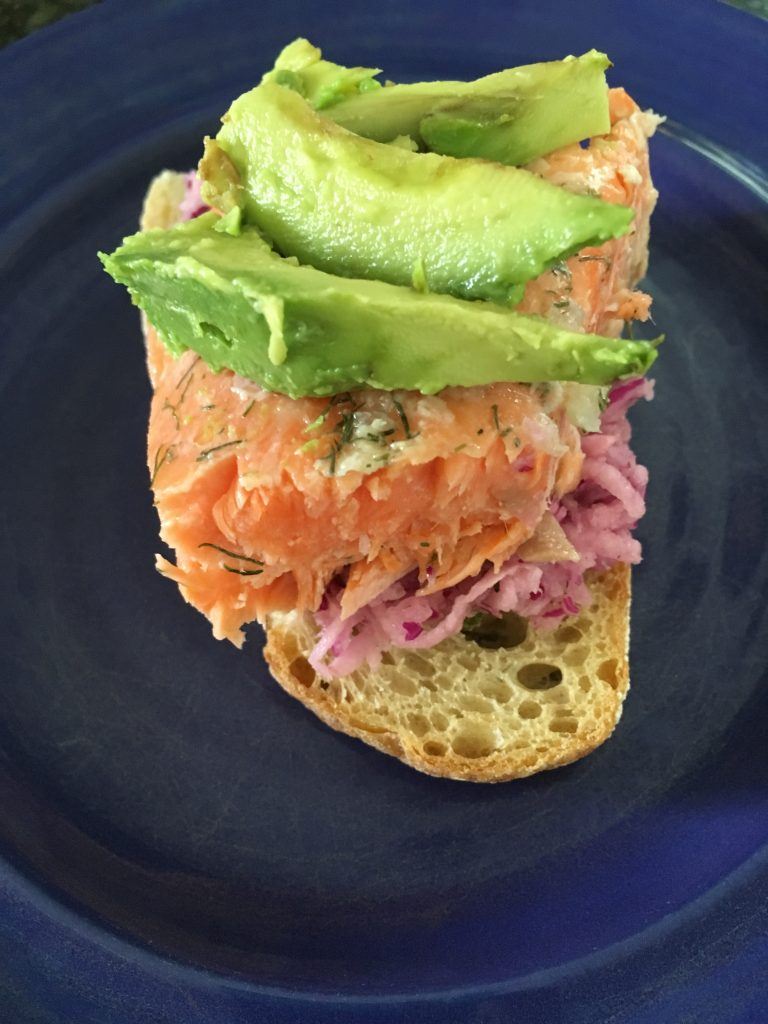 Get the recipe for Steelhead Trout with Jicama Slaw on www.eatrightmama.com: http://bit.ly/2hT6tiG