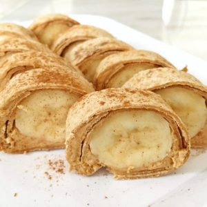 #peanutbutter and banana sushi #recipe