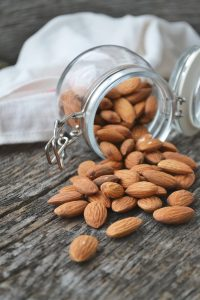Almonds contain magnesium, an important mineral for sleep. Read more here.