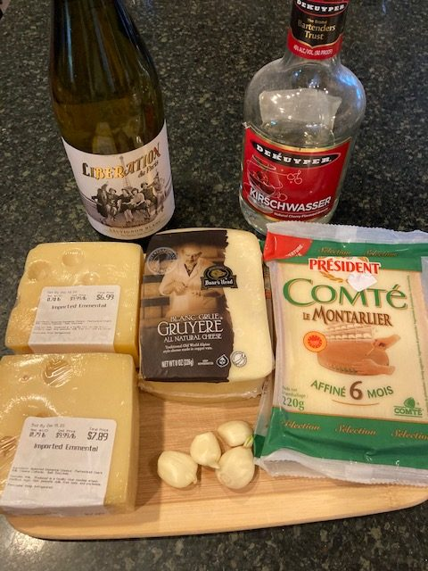 Ingredients for a French Fondue